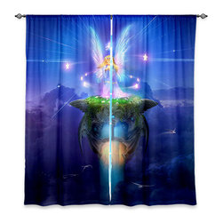 """DiaNoche Designs - Window Curtains Unlined - Philip Straub Star Gazer - Purchasing window curtains just got easier and better! Create a designer look to any of your living spaces with our decorative and unique """"Unlined Window Curtains."""" Perfect for the living room, dining room or bedroom, these artistic curtains are an easy and inexpensive way to add color and style when decorating your home.  This is a tight woven poly material that filters outside light and creates a privacy barrier.  Each package includes two easy-to-hang, 3 inch diameter pole-pocket curtain panels.  The width listed is the total measurement of the two panels.  Curtain rod sold separately. Easy care, machine wash cold, tumbles dry low, iron low if needed.  Made in USA and Imported."""