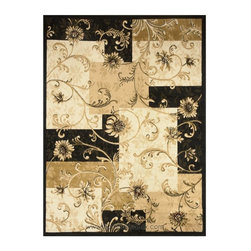 Dynamix Rugs - Home Dynamix 11025 Optimum Area Rug - Black - 11025-450-OPTIMUM 4 - Shop for Rugs and Runners from Hayneedle.com! If you're trying to decide between a traditional floral area rug or a contemporary geometric one check out the Home Dynamix 11025 Optimum Area Rug Black which gives you the best of both styles. A geometry of squares and rectangles in neutral tones of brown beige ivory and black create a bold eye-catching background. Overlaying it is a fresh floral pattern that's anything but overblown - subtle sprigs in a calming beige downplay the effect while raising your living space to a whole new level of decor.The area rug is crafted of polypropylene fibers that are machine-woven in Turkey a hotbed for beautiful rug designs. Plus it's easy to clean (spot-clean only) and available in your choice of shape and size.About Home Dynamix LLCFrom humble beginnings Home Dynamix LLC has grown into a national and international leader in home decorative products. Truly a family business (founder Moshe Evar's kids even helped him unload the first container of rugs into his basement in 1986) the company cares about each of its employees' well-being and treats them like family. Home Dynamix flourished after becoming the New York metropolitan area's top source for floor covering products and expanded into mats and tiles with plans to enhance its extensive line of high-quality items with more decorative home products.