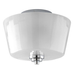 """Progress Lighting - Progress Lighting P3880-15 Victory 10-1/4"""" Two-Light Semi-Flush Mount Ceiling - 2-light semi-flush with smoothed polished glass and a touch of metal.Features:"""