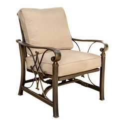 Holly and Martin - Jager Outdoor Stationary Spring Rocker Chairs, 4-Pack - Embrace the serenity of the outdoors with this elegant set of four stationary spring rocker chairs. It's the perfect spot for relaxed outdoor living.