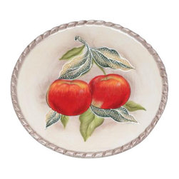 ATD - 6.38 Inch Red Apples Design White Sandwich Plate Collectible - This gorgeous 6.38 Inch Red Apples Design White Sandwich Plate Collectible has the finest details and highest quality you will find anywhere! 6.38 Inch Red Apples Design White Sandwich Plate Collectible is truly remarkable.