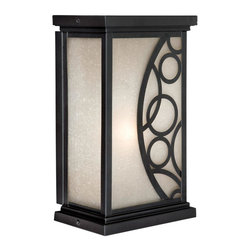 """Vaxcel - 8"""" Outdoor Wall Light - Vaxcel Lighting PO-OWD080NB Prosecco Outdoor Sconce This Vaxcel Lighting product is available in a noble bronze finish. Features amber seeded glass. Ill"""