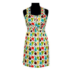 asd living - Pear Tart Delilah Apron - With a delightful design, this apron combines function with style and is perfect for impromptu baking sessions. It ties closed at the waist for a flattering fit. �� 16'' W x 27'' H 100% cotton Machine wash; tumble dry Imported