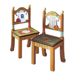 Teamson Design - Teamson Kids Little Sports Fan Set of 2 Chairs - Teamson Design - Kids Chairs - TD0022A/2. A Great addition to our Table and Chair set. It's always good to have extras!