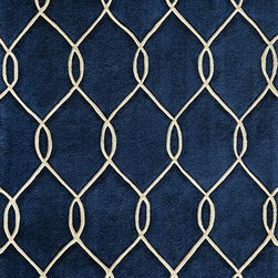 Momeni - Momeni Bliss Bs12 Navy Rug - Blissbs - Bliss is a collection of bold transitional and soft contemporary patterns in earthen tones, hand-tufted from the softest blend of polyester. It features hand-carving for added depth and texture.
