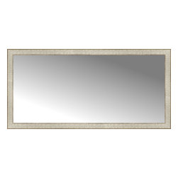 """Posters 2 Prints, LLC - 51"""" x 25"""" Libretto Antique Silver Custom Framed Mirror - 51"""" x 25"""" Custom Framed Mirror made by Posters 2 Prints. Standard glass with unrivaled selection of crafted mirror frames.  Protected with category II safety backing to keep glass fragments together should the mirror be accidentally broken.  Safe arrival guaranteed.  Made in the United States of America"""
