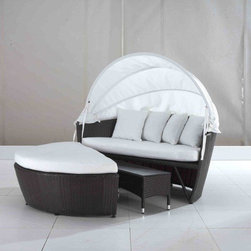 Outdoor Furniture - Convertible outdoor loveseat with cover - Sylt Lux by Beliani