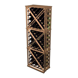 Wine Cellar Innovations - Designer Open Diamond Cube Wine Rack (All-Heart Redwood - Midnight Black Stain) - Choose Wood Type and Stain: All-Heart Redwood - Midnight Black Stain. Bottle capacity: 132. Beveled ends and rounded edges. Labels are safe from tearing. Full wine bottle depth coverage at 13.5 in. deep. 24.19 in. W x 13.5 in. D x 72 in. H (28 lbs.). Rack should be attached to a wall to prevent wobble. Designer collection. Made in USA. Warranty. Assembly Instructions