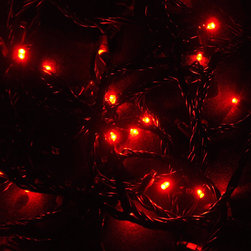 EnvironmentalLights - 12882 Chasing Red 23.7 ft Green Wire 70 LED Christmas Lights 8112 - The 2-channel 8xxx and 9xxx series Christmas lights are selling out quickly. Buy early to avoid missing out! Only about 121 units remaining in stock.