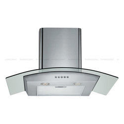 """Spagna Vetro - SPAGNA VETRO 36; SV198D-36 Wall-Mounted Stainless Steel Glass Range Hood - Mounting version - Wall Mounted860 CFM centrifugal blower Three-speed mechanical, soft-touch push button control panel Two 35W halogen lights (Type: GU-10) Aluminum multi-layers micro-cell dishwasher-friendly grease filter(s) Machine crafted stainless steel (brushed finish) 6"""" round duct vent exhaust and back draft damper Convertible to duct-free operation (requires optional charcoal filter) Telescopic flue accommodates 8ft to 9ft ceilings (optional flue extension available for up to 10ft ceiling) Tempered Glass Canopy For residential use only, one-year limited factory warranty"""