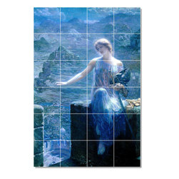 Picture-Tiles, LLC - 3 Tile Mural By Edward Robert Huges - * MURAL SIZE: 48x32 inch tile mural using (24) 8x8 ceramic tiles-satin finish.