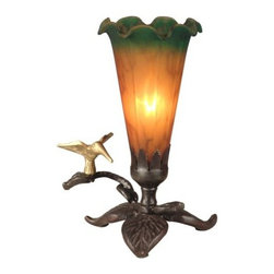 Dale Tiffany - Dale Tiffany TA10804 Tiffany Lily Accent Lamp - Dale Tiffany TA10804 Tiffany Lily Accent Lamp with 1 LightAdd sophistication to your home with this attractive Tiffany Lily Accent Lamp with 1 Light. This accent table lamp by Dale Tiffany features a beautiful Antique Bronze finish. This lamp is a great way to augment the lighting in your room with style.Dale Tiffany TA10804 Features: