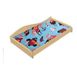 """Room Magic - Pirate Pals Changing Pad Cover - Coordinating Pirate Pals Changing Pad Cover fits standard size changing pads, 32""""w x 16""""D x 4"""" H"""