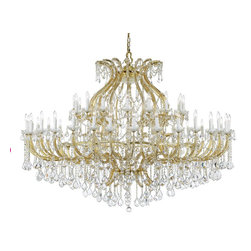Crystorama - Crystal 58 Light Up Lighting Two Tier Chandelier - There's undeniable magic when light meets crystal or glass. It sparks the same fire one sees when light meets precious and semi-precious stones. Great lighting often takes styling cues from jewelry as well, with its primary use of gold and silver tones. J