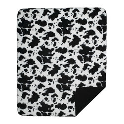 Throw Blanket Denali black Cow/Black - Denali micro plush throws are considered the Cadillac of throws due to their rich colors and soft feel. These throws are softer and warmer than fleece.