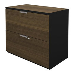 Bestar - Bestar Pro-Concept Lateral File in Black and Milk Chocolate - Bestar - Filing Cabinets - 1106301198 - This commercial collection offers numerous configuration possibilities to customize your work environment. The compact desk dimensions will facilitate your layout while preserving efficiency and well-being.