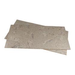 Forna - FORNA Glue-down Cork Flooring - White Marble (21.31 sqft per Package) - White Marble cork flooring is  Creamy, off-white colour