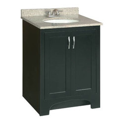 PREMIER - Premier 106722 Sonoma RTA Vanity, 24-Inch, Espresso Finish - # Ready-to-assemble Cam-lock connectors for fast and easy assembly Solid wood door frames and drawer fronts Full extension ball bearing drawer glides Satin nickel hardware vanity; 24 inch; espresso; ready to assemble
