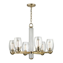 HUDSON VALLEY LIGHTING - Hudson Valley Lighting Pamelia-Chandelier Aged Brass - Free Shipping