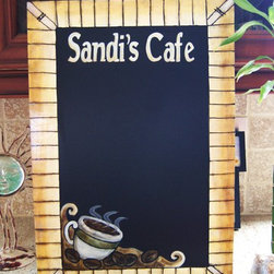 Personalized Cafe Chalkboard - Completed chalkboard to fit Sandi's Kitchen!