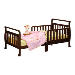 AFG Baby - AFG Baby Anna Toddler Bed in Espresso - The Anna Wooden Toddler Bed has beautifully finished hardwood and an elegant sleigh design. The bed is equipped with two guardrails to facilitate easy access and prevent your child from falling out.