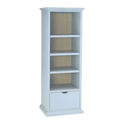 Newport Cottages Toy Bookcase - Don't you just love this slender piece for holding treasures and toys? Though this baby blue is divine, this piece comes with several several colors and the option to paint the interior a contrasting color.