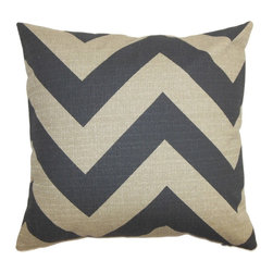 "The Pillow Collection - Eir Zigzag Pillow Gray Natural - Adorned with a playful zigzag pattern, this accent pillow will spruce up your living space. This throw pillow adds a modern touch to your sofa, bed or chair with striking print and neutral hues. The square pillow features a combination of gray and natural hues. Incorporate other patterns like stripes, geometric and plaid with this 18"" pillow for a modern interior look. Made of 100% soft and durable cotton fabric. Hidden zipper closure for easy cover removal.  Knife edge finish on all four sides.  Reversible pillow with the same fabric on the back side.  Spot cleaning suggested."