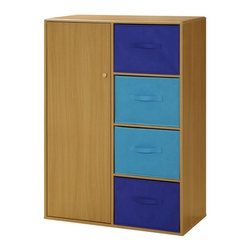 4D Concepts - 4D Concepts Boys 4 Drawer Armoire - Beech Multicolor - 12340 - Shop for Dressers from Hayneedle.com! The 4D Concepts Boys 4 Drawer Armoire Beech provides ample storage space for all your child s necessities. Accented with navy and light blue ready-to-unfold canvas drawers this armoire is great for holding games controllers clothes and toys. Next to the four shelving units is a cabinet door that opens up to hanging storage room for your child s coats and sweaters. The top of this armoire features corners that have been shaped so there are no sharp edges. Constructed of composite board and highly durable PVC laminate this armoire is sure to be a pleasant accessory parents and child will both love.About 4D Concepts4D Concepts is a manufacturer of fine homewares located in California. They specialize in kitchen cabinetry cupboards baker's racks as well as bathroom furniture. Using materials such as metal select woods and premium hinges and hardware their products whether they are entertainment centers or a simple plant stand are designed to endure years of continuous use.