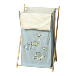 Sweet Jojo Designs - Go Fish Hamper - The Go Fish Hamper by Sweet Jojo Designs will add a designer's touch to any child's room. This children's laundry clothes hamper has a wooden frame, mesh liner, and a fabric cover.