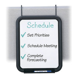 """Safco - Safco Panel Mate Dry-Erase Markerboard (Set of 6) - Safco - Desk Accessories - 4158CH - This wall hanger dry-erase marker board helps you keep track of tasks, projects, meetings, etc. Unit features an 11"""" x 14"""" melamine surface with built-in tray to hold markers. Mounting height is adjustable up to 18"""" from top of panel. Universal mounting system for installation included. Packed 6 per carton."""