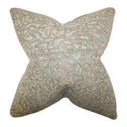 The Pillow Collection - Urien Floral Pillow Silver - Update your home with this unique accent pillow. This decor piece features floral pattern in shades of gold and silver. Adorn your home with a few pieces of this indoor pillow. This square pillow looks great when placed in your sofa, bed or seat together with solids and other patterns. Made of high-quality materials.