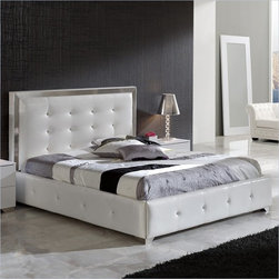 Dupen Coco Queen Size Storage Bed in White - This bedroom collection offers an elegant blend of traditional elements with modern simplicity of lines that produces a unique and rich flair perfect for any contemporary bedroom. The collection oozes a luxurious Hollywood chic that you can bring and enjoy in your own private haven.