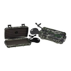 Prestige Import Group Small Camo Cigar Caddy Humidor - The digital camo pattern on your Prestige Import Group Small Camo Cigar Caddy Humidor makes it perfect for your. A handy cigar caddy humidor, this one is made of durable plastic and designed to protect up to five cigars in style. A traveling pro, this cigar caddy is water- and crush-resistant and has a thick, protective foam bed. Its snap-tight locking lid, interior humidifier, and carrying handle make it perfect.About Prestige Import Group:Prestige Import Group features a unique line of quality cigar humidors and smoking accessories at the best possible price. Each and every humidor combines detailed craftsmanship with authentic Spanish cedar to provide the perfect environment for storing your favorite cigars. Selections are available in a variety of sizes, styles and finishes and are designed to suit everyone from the occasional cigar smoker to the avid cigar aficionado.