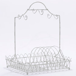 White Wire Dish Rack - I never thought I'd actually want to hand wash my dishes, but this rack kind of changes my worldview.