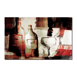 Ready2HangArt - Ready2hangart Alexis Bueno Abstract Wine Canvas Wall Art - This abstract canvas art is the perfect addition to any contemporary space. It is fully finished, arriving ready to hang on the wall of your choice.