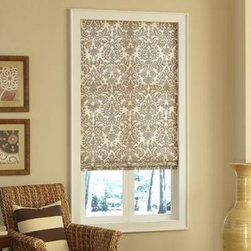 American Blinds Super Value Roman Shades - Super Value Roman Shades offer you the quality workmanship of a custom drapery workroom at a price you won't believe. They are available in an array of colors and lifting options, including a completely child safe cordless system. A light filtering liner is included on all shades. Choose a thermal or blackout liner for more enery efficiency or light blockage.