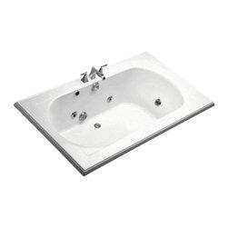 KOHLER - KOHLER K-1418-HE-0 Memoirs 6' Whirlpool with Custom Pump Location - KOHLER K-1418-HE-0 Memoirs 6' Whirlpool with Custom Pump Location in White