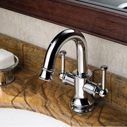 Chrome Finish Two Handles Single Hole Mount Mixer Taps Bathroom Sink Faucet - Chrome Finish Two Handles Single Hole Mount Mixer Taps Bathroom Sink Faucet
