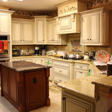 Eclectic Kitchen Cabinets by C&S Cabinets, Inc