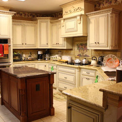 Job # 07-294 - Painted Kitchen Cabinets with all the extras!!!