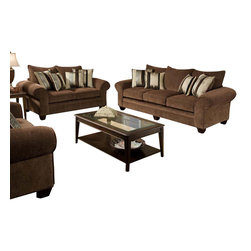 Chelsea Home Furniture - Chelsea Home 2-Piece Living Room Set in Masterpiece Chocolate-Kendu Onyx Pillows - Clearlake 2-Piece Living Room Set in Masterpiece Chocolate - Kendu Onyx Pillows belongs to the Chelsea Home Furniture collection