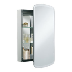 "Kohler K-CB-CLC2031BAN 20"" x 31"" Mirrored Medicine Cabinet with Adjustable Glass - This mirrored cabinet features a 1"" beveled frameless door that can be installed with a left or right hinge. Inside, two adjustable 1/4"" glass shelves hold all your toiletries and bath items in front of a beautifully mirrored rear wall."