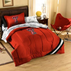 Northwest Company, The - Collegiate Texas Tech University Complete Bed Ensemble - Show your team spirit with this athletic inspired bedding. The bedding features the team's colors, printed sheets and an applique logo on the comforter.