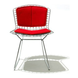 Knoll - Knoll | Bertoia Side Chair with Back Pad/Seat Cushion, Outdoor - Design by Harry Bertoia, 1952.