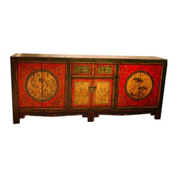 Antique Reproduction Rad Asian Cabinet - We are always finding original and beautiful reproduction asian cabinets. Please call store for current pieces-323-937-7654