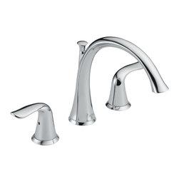 Delta - Lahara Roman Tub Faucet Trim in Chrome - Delta T2738 Lahara Roman Tub Faucet Trim in Chrome.