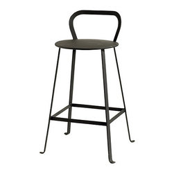 Ballard Designs - Rutland Counter Stool - Powder coated. Resists rust & moisture. With its pure, simple design, this natural iron counter stool has a sculptural look that works with any decor. Perfect for perching indoors or out, the gently curved back is just the right height and comfortable shape to support your lower back.Rutland Iron Counter Stool features: . .