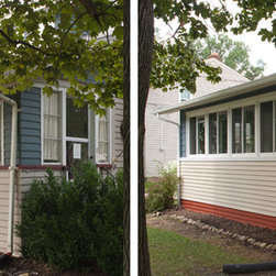 Replacement Vinyl Windows Before & After - Before & after replacement vinyl windows