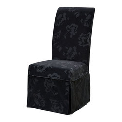 Powell Furniture - Powell Furniture Velvet Tone-on-Tone Floral Black Skirted Slip Over - Powell Furniture - Slipcovers - 741219Z - The Velvet Tone-on-Tone Floral Black Skirted Slip Over is made from chenille - 100% polyester. Slip overs are a perfect way to make your existing chairs different and new. For use with chair 741-440.