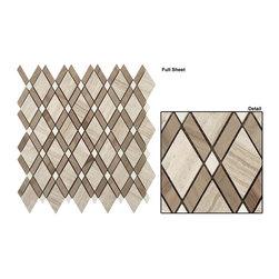 Diamond stone mosaic - Marble diamond interlocking mosaic